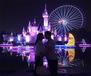 河南主題樂園的夜景燈光設計規劃,夜晚才是樂園的狂歡