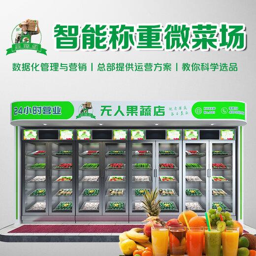 青岛生鲜柜价格,社区无人果蔬售卖机