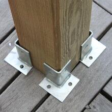 孝感固定木方立柱的鐵腳角碼批發圖片