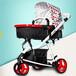 嬰兒推車可坐躺折疊雙向切換高景觀避震兒童寶寶三輪車豪華手推車