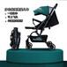 嬰兒推車輕便高景觀一鍵收車四輪避震可坐躺便攜折疊嬰童迷你傘車
