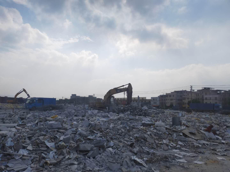 石排镇施工设施的拆除