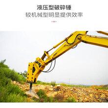 破碎錘構造簡單好維護液壓破碎錘挖機大型破碎錘廠家圖片