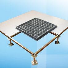 深圳沈飞高架活动地板承重好带方管蜂窝式通风地板承重图片