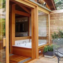 峨眉山胶合木屋木别墅结构图片