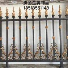西安铁艺围栏厂家西安锻造围栏加工小区电动铁艺大门安装图片