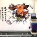 眾合墻體彩繪機3D立體戶外墻面噴繪機背景墻智能5d廣告打印機設備