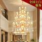 休閑會所宴會廳大型燈具保養清洗水晶燈裝飾燈具清洗保養圖片