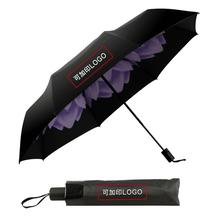 西安遮阳伞定制户外四角遮阳伞女士防晒黑胶伞现货批发图片