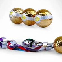 青島全新高爾夫彩帶球生產廠家圖片