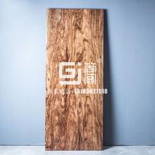簡閣家居水波紋烏金木中式客桌實木大板家具