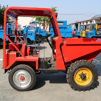 厂家现货前卸式翻斗车四轮自卸柴油工程车工地短途运输车