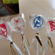 Filmcare透明糖果膜片定制图案印在棒棒糖上的照片糖霜纸图片