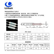廣州日本內橋溫度保險絲T1F,86度1安過熱保護器圖片