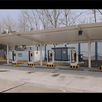 嘉兴膜结构停车棚,海宁汽车棚厂家,平湖桐乡充电桩雨棚安装