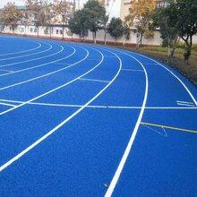 黄冈学校塑胶跑道施工公司图片