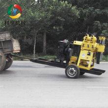 轮式家用打井机械设备LH-130X拖挂式钻井机搬运方便图片