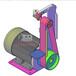 多功能小型砂帶機家用臺式diy砂光機去毛刺木工打磨拋光機及配件