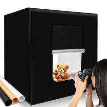 LED室内摄影棚60CM小型摄影棚室内柔光箱可折叠便携摄影棚套装图片