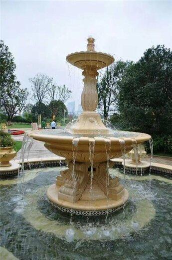 石雕喷泉图