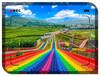 大型彩虹大滑梯旱雪滑道價格彩虹滑道的滑行瞬間