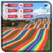 風景如畫彩虹滑道建設規劃七彩大滑梯滑落人間平凡路