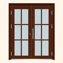 黄岛安装氟碳漆单元门双开楼宇门单元门维修厂家货源图片