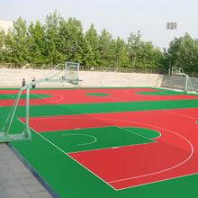 籃球場施工建設環保硅pu材料網球場施工廠家圖片