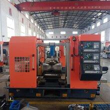 閘閥專用機床三面數控鏜車床可加工(DN40-800)閥門管件