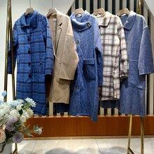 20冬款摩卡素时尚休闲双面呢大衣品牌女地素直播货源图片
