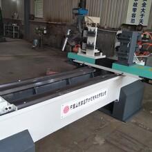木頭柱子加工機器用雙軸雙刀數控木工車床效率高