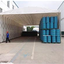 蔡甸区定制推拉棚厂家销售户外遮雨棚工地物品存放雨蓬汽车停车棚图片