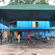 推拉棚活动推拉棚雨蓬,珠海定制建筑工地棚安全可靠图片