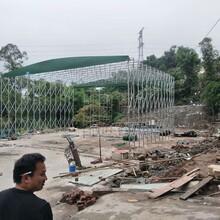推拉棚定制推拉雨棚,广州推拉建筑工地棚效果图图片