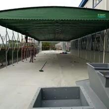 推拉棚活动推拉棚雨蓬,江苏钢结构建筑工地棚质量可靠图片