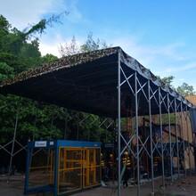 湖北建筑工地棚效果图,活动推拉棚雨蓬图片