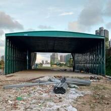 天津建筑工地棚质量可靠,工地伸缩活动雨蓬图片