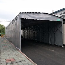 推拉棚活动推拉棚雨蓬,天津定制建筑工地棚规格齐全图片