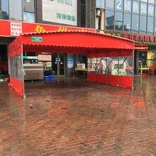 雨棚伸缩雨棚,广西环保大排档雨棚安全可靠图片