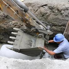 淮安小区污水管改造租赁图片