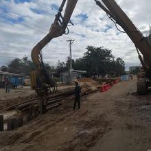 崇明区小区污水管改造施工图片