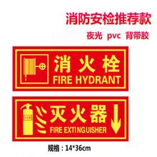 滅火器消火栓消防栓的使用方法說明貼紙