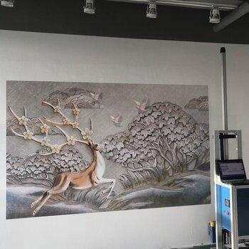 東莞大型3D墻體噴繪機打印機創業背景墻彩繪機噴涂機墻繪機