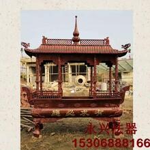 杭州铸铁一层八龙柱香炉制作图片