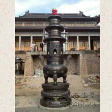 大连铸铜古宫三层宝鼎生产厂家图片