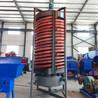 选矿螺旋溜槽玻璃钢叶片洗煤选矿溜槽实验室重选摇床螺旋溜槽设备