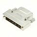 SCSI50芯焊線公頭螺絲式鋅合金鐵殼180度出線