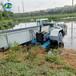 江蘇蟹塘水草水葫蘆打撈船全自動中小型割草船打撈船