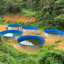 定做水產養殖帆布水池蓄水池戶外高密度養魚養蝦鍍鋅板養殖魚池圖片