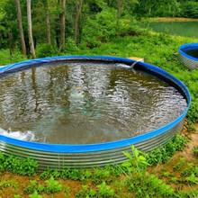 圓形鍍鋅板養魚水池帆布養殖池高密度養蝦帆布水池魚池蓄水池圖片